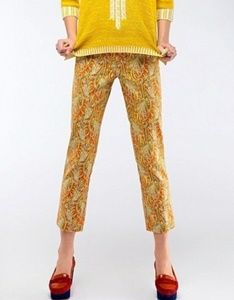 Cartonnier Persimmon Paisley Crop Pants